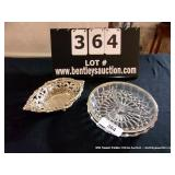 LOT: FOOTED DISH & GLASS BOWL