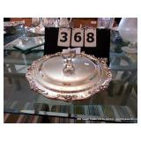 SILVER PLATE COVERED SERVING PIECE W/ DISK INSERT