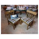 LOT: SPINDLE BACK UPHOLSTERED BOTTOM CHAIRS