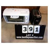 LOT: SUNBEAM TOASTER & RIVAL OVEN