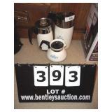 LOT: 3 CORNING COFFEE POTS