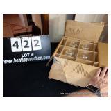 BOX:8-PIECE HAZELWARE CRYSTAL DAISY SNACK SET