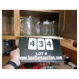 LOT: PITCHER & 8 GLASSES