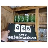 LOT: 16 GREEN GLASSES