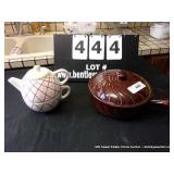 LOT: PITCHER, COVERED DISH W/ HANDLE