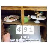 LOT: 8 TURKEY PLATTERS, FOOTED DISHES & PANS