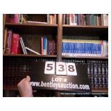 SHELF CONTENTS: ASSORTED BOOKS