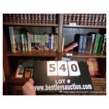 SHELF CONTENTS:  TRAVEL BOOKS, BOOKS