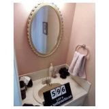 CONTENTS: BATHROOM - FRAMED PRINT, WALL PLATE, 2