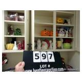 CONTENTS: CABINETS - MIXED HOLIDAY DÉCOR -