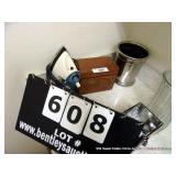 LOT:  BLACK & DECKER IRON, WOODEN RECIPE BOX