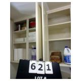 CONTENTS CABINETS:  CLEANERS, EYEGLASSES, PAPER