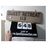 WOODEN CUSTOM SIGN  -  SWEET RETREAT