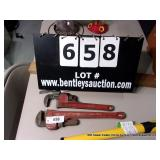 LOT:  RITCO PIPE WRENCHES  (2 X MONEY)