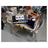 LOT:  CARD TABLE - 3 CHAIRS  (4 X MONEY)