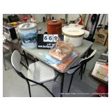 LOT: CARD TABLE - W/ 4 CHAIRS  (4 X MONEY)