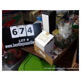 BOX:  POTPOURRI - CANDLE - DECORATIONS