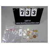 BAG: (19) ASSORTED FOREIGN COINS~ BRAZIL,