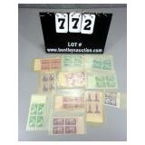 LOT: (100) ASSORTED US 3 CENT STAMPS~4-STAMP