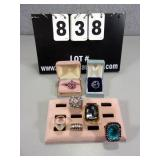 LOT: (7) ASSORTED FASHION JEWELRY RINGS