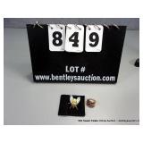 LOT: (2)~ 14KT YELLOW GOLD & GARNET RING, 18KT
