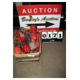 BOX: ASSORTED HANDHELD HARRIS RADIO / PHONES