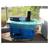 PALLET: EMCAR BLUE METAL CABINETS & TABLE (2X