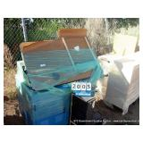 PALLET: METAL CABINETS, TABLE & SHELVES (5X
