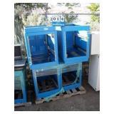 PALLET: EMCAR BLUE METAL CABINETS (4X MONEY)