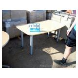 TAN TABLE W/ WHEELS