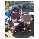 RED CASTERED CHAIRS (8X MONEY)
