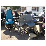 ASSORTED OFFICE CHAIRS (17X MONEY)