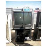 JVC TELEVISION, STAND/STORAGE (2X MONEY)
