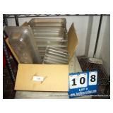 BOX: ASSORTED PLASTIC BINS W/ CUTTING BOARDS