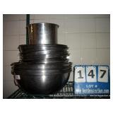 STAINLESS STEEL LARGE MIXING BOWLS (15X MONEY)