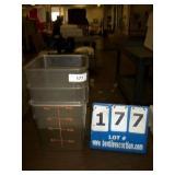 PLASTIC 8 QT FOOD PANS (3X MONEY)