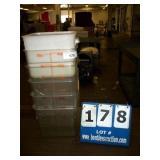 PLASTIC 8 QT FOOD PANS (6X MONEY)
