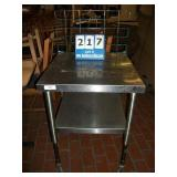 CASTERED STAINLESS STEEL TABLE