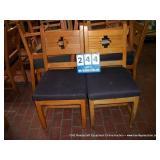 WOOD/CUSHION DINING ROOM CHAIR (2X MONEY)