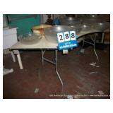 WOOD/METAL FOLDING TABLE - SECTIONAL