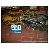 STACK: ASSORTED HARDWARE~ CORD, VALVE FITTINGS,