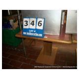 "WOOD TABLE, 20"" X 30"" X 30"""