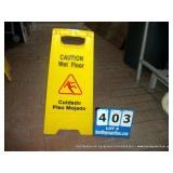 RUBBERMAID CAUTION SIGN