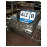 STAINLESS STEEL PANS (5X MONEY)