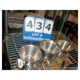 STAINLESS STEEL BOWLS-SMALL (3X MONEY)