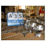 STAINLESS STEEL BUTTER BOWLS (3X MONEY)