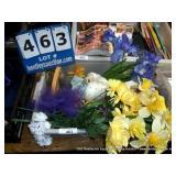 BIN: ASSORTED DECORATIVE FLOWERS