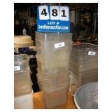 PLASTIC SQUARE CONTAINER, 8 QT (5X MONEY)
