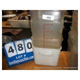 PLASTIC SQUARE CONTAINER, 8 QT (4X MONEY)