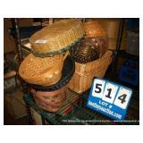 STACK: ASSORTED WICKER BASKETS (12X MONEY)